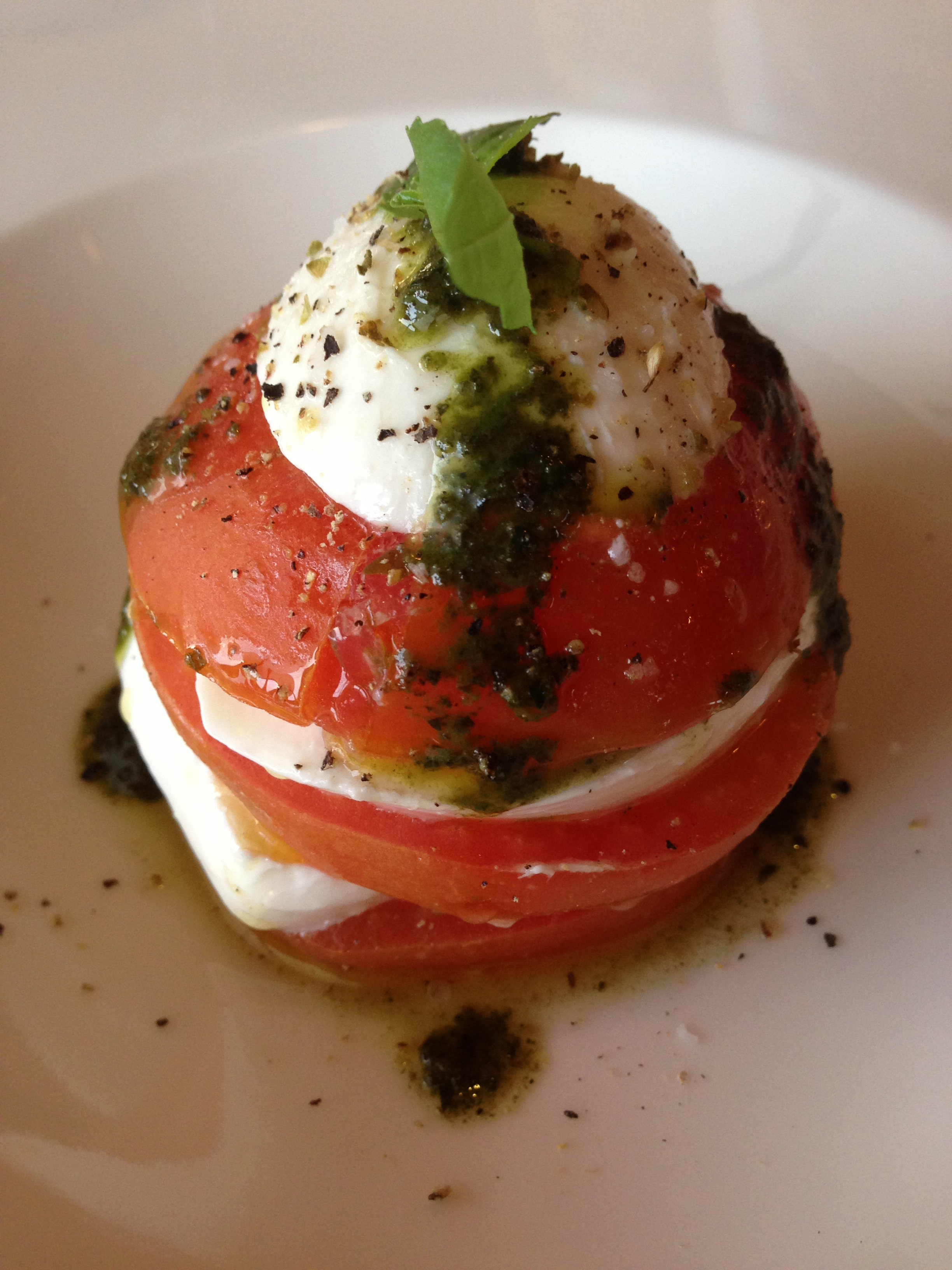 Stacked Caprese Salad | OnePaleoPrincess