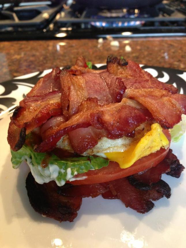 2013 05 26 Egg Sandwich with bacon weave bread
