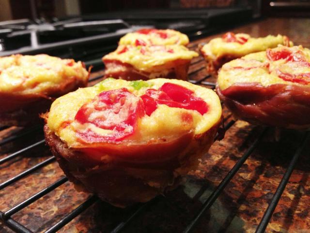 2013 06 11 prosciutto wrapped mini frittata muffins