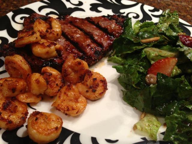 2013 09 03 Steak and shrimp