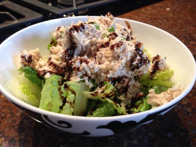 2013 12 20 Tuna salad drizzled with a balsamic glaze!