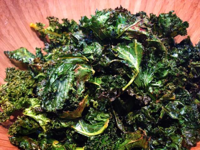 2014 01 12 Baked kale chips