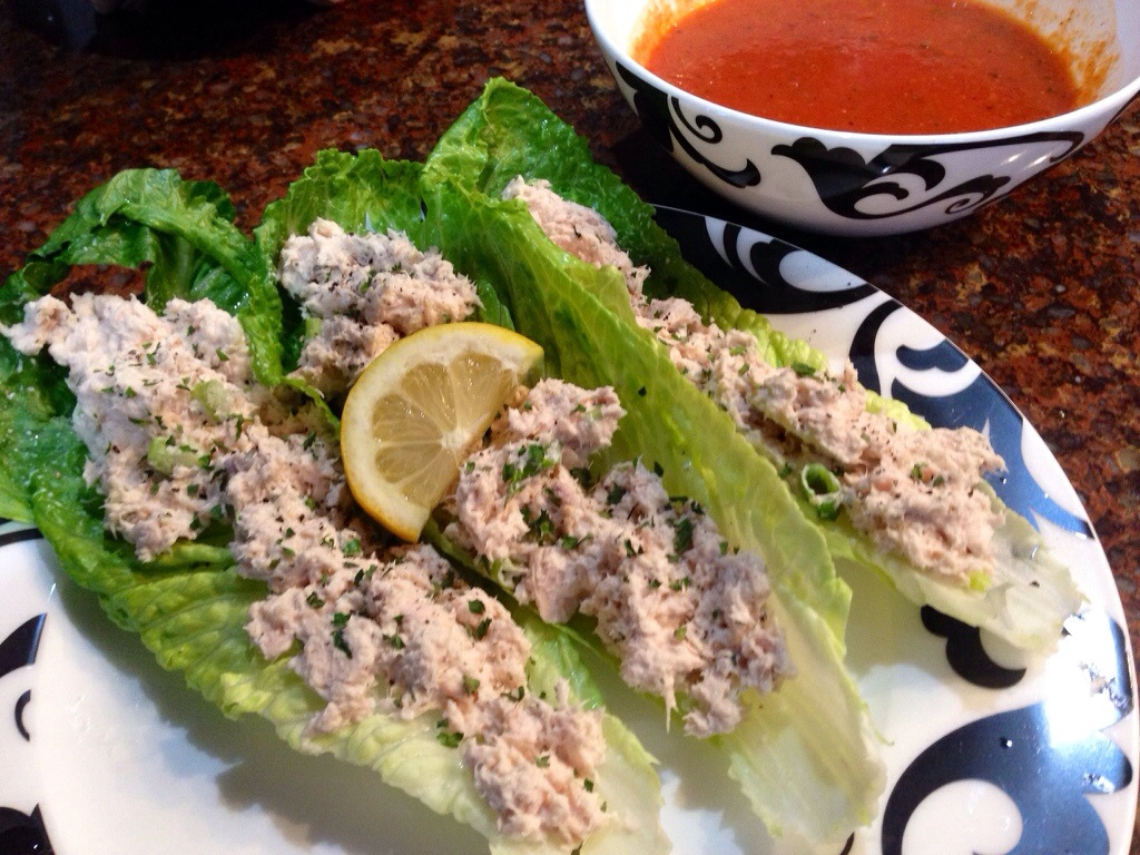 Tuna Salad Lettuce Wraps With Capers And Tomatoes Recipe — Dishmaps